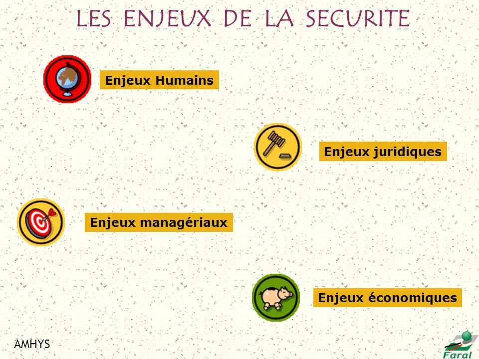 LES ENJEUX DE LA SECURITE