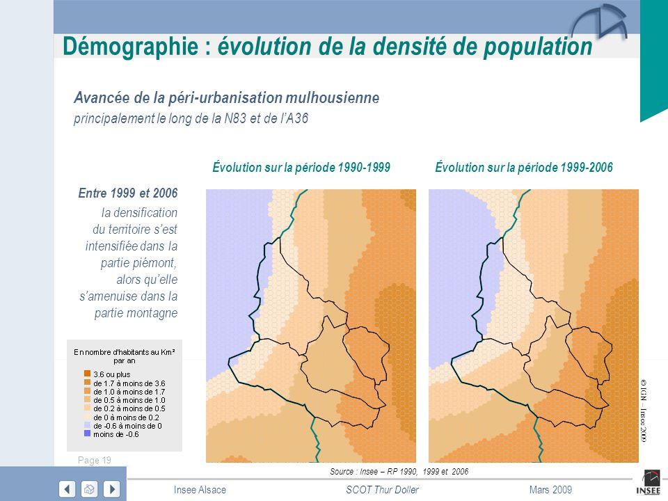 Évolution sur la période 1990-1999 Évolution sur la période 1999-2006