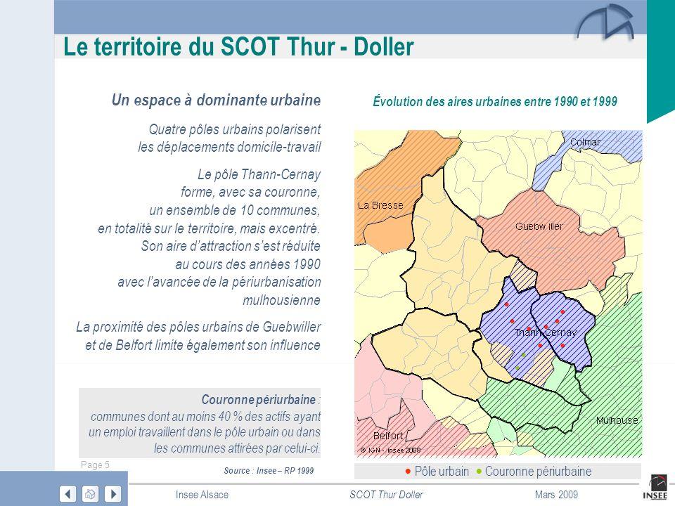 Le territoire du SCOT Thur - Doller