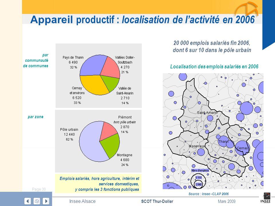 Appareil productif : localisation de l'activité en 2006