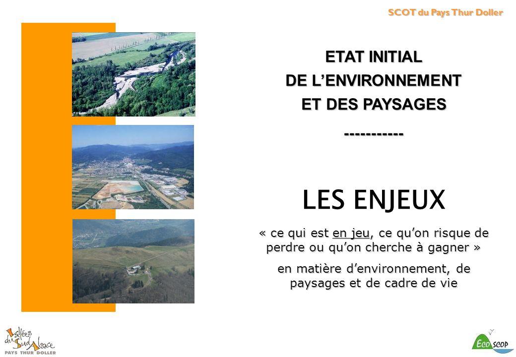 en matière d'environnement, de paysages et de cadre de vie