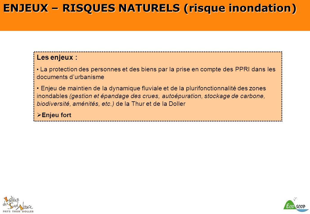 ENJEUX – RISQUES NATURELS (risque inondation)