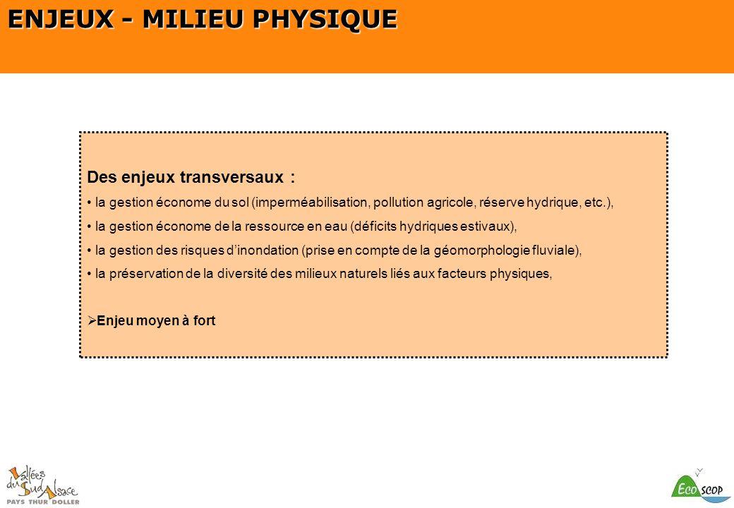 ENJEUX - MILIEU PHYSIQUE