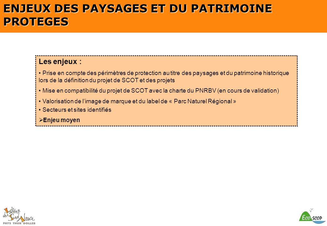 ENJEUX DES PAYSAGES ET DU PATRIMOINE PROTEGES