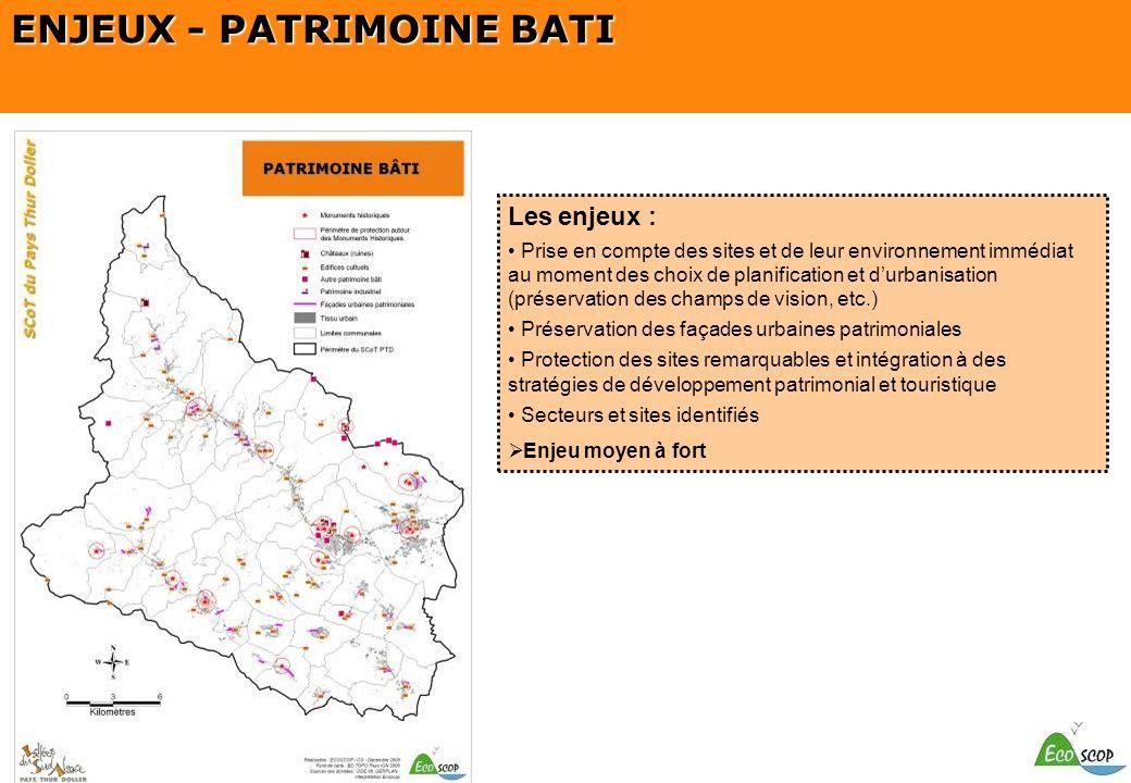 ENJEUX - PATRIMOINE BATI