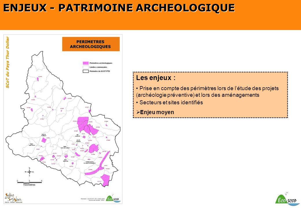 ENJEUX - PATRIMOINE ARCHEOLOGIQUE