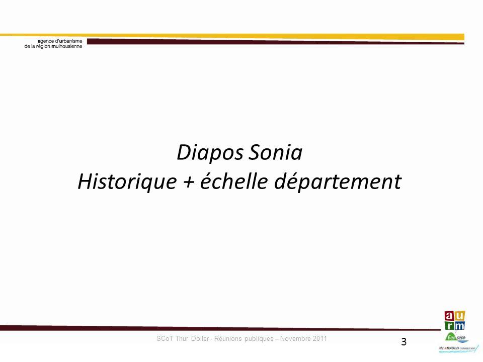 Historique + échelle département