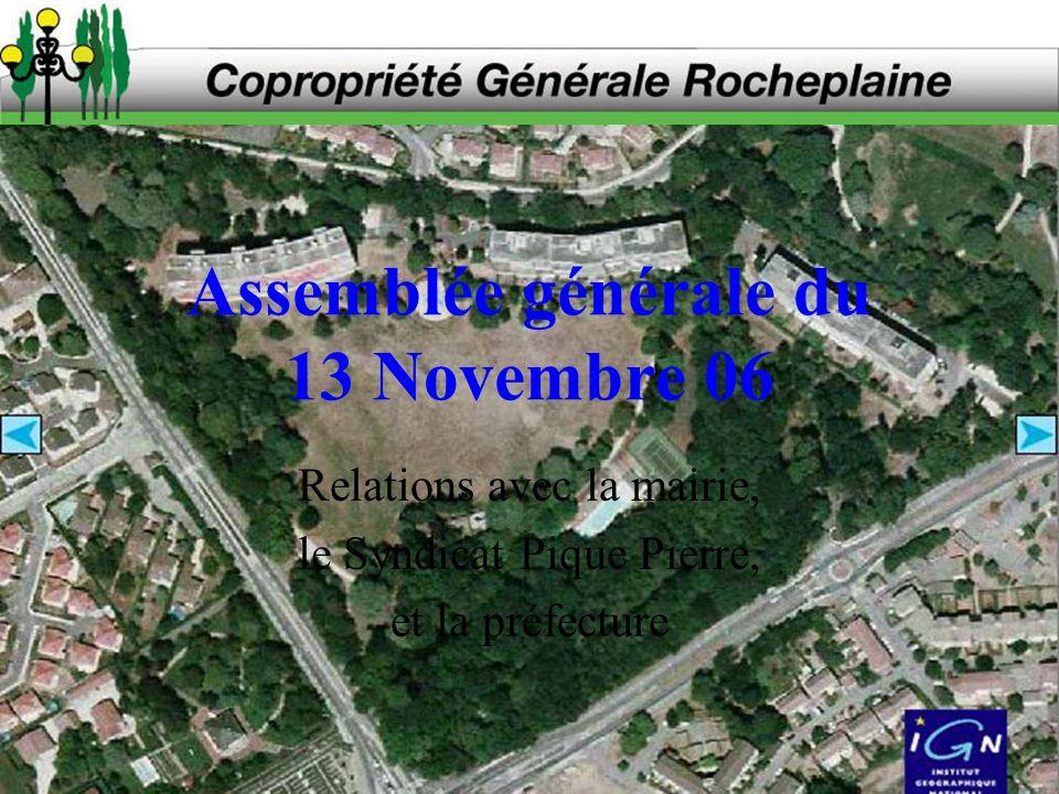 Assemblée générale du 13 Novembre 06
