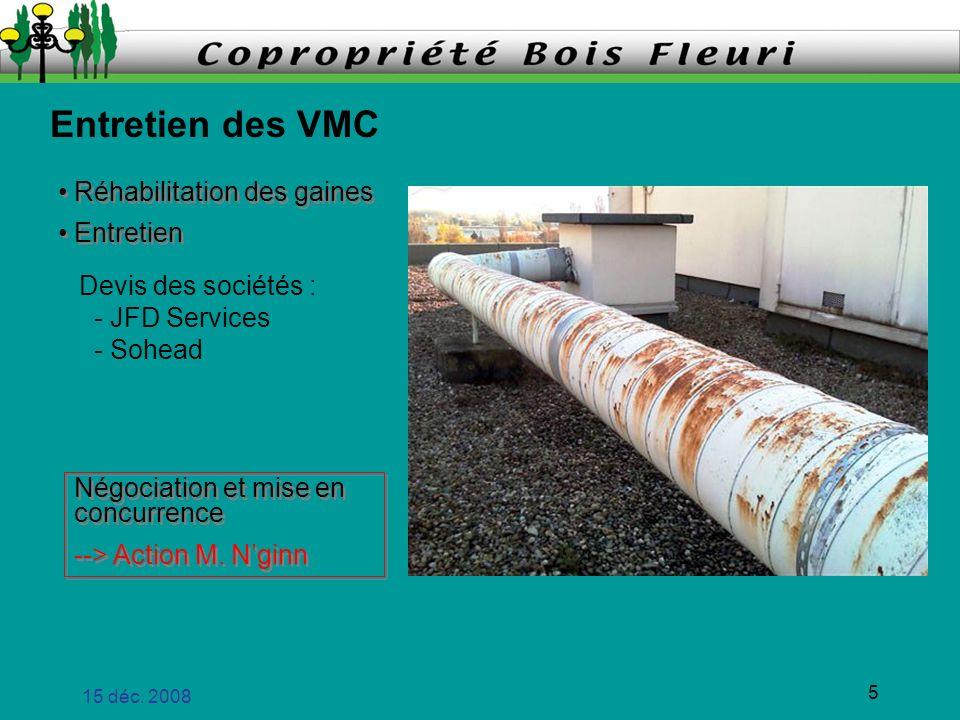 Entretien des VMC Réhabilitation des gaines Entretien