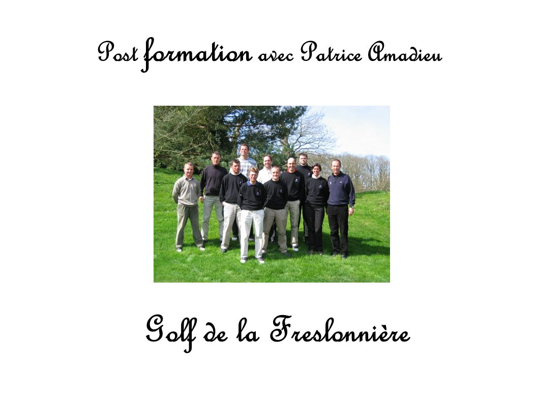 Post formation avec Patrice Amadieu