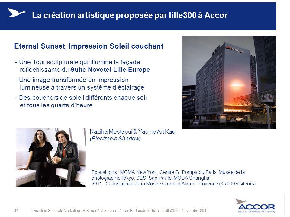 La création artistique proposée par lille300 à Accor