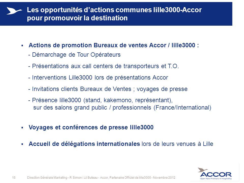Les opportunités d'actions communes lille3000-Accor pour promouvoir la destination