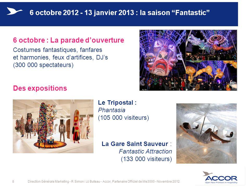 6 octobre 2012 - 13 janvier 2013 : la saison Fantastic