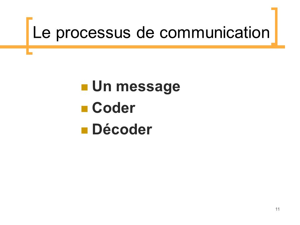 Le processus de communication