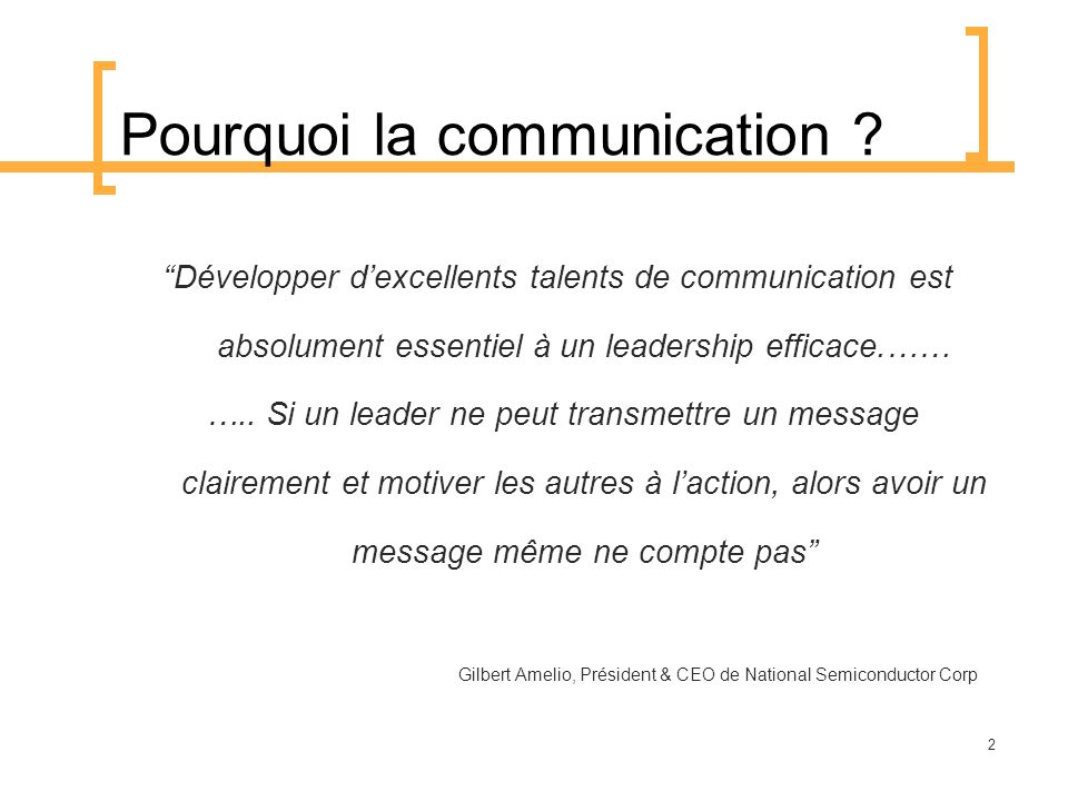 Pourquoi la communication