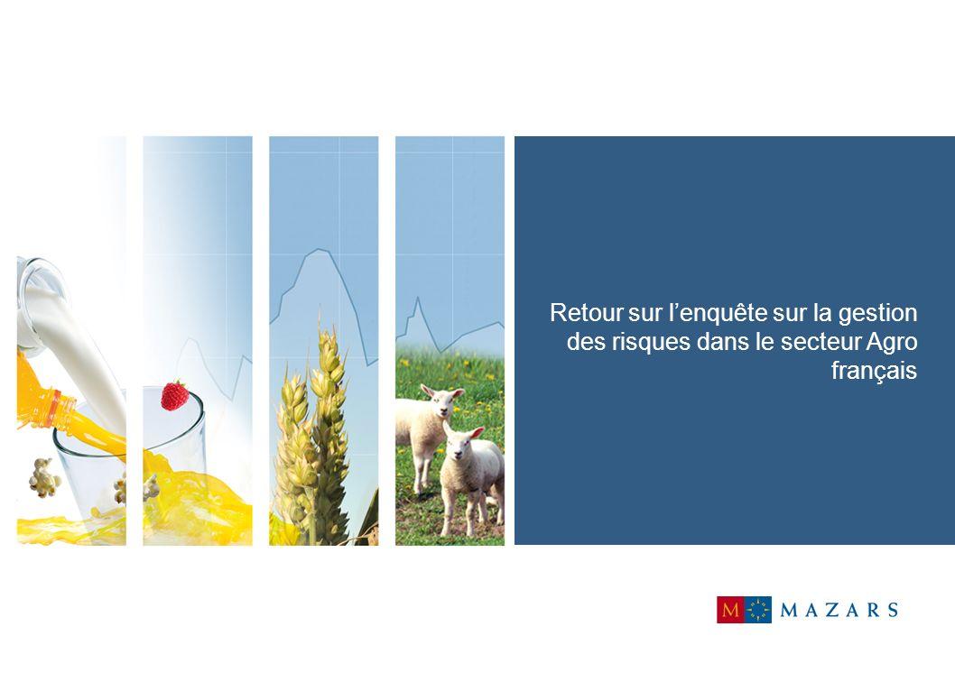 Retour sur l'enquête sur la gestion des risques dans le secteur Agro français