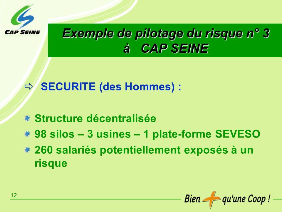 Exemple de pilotage du risque n° 3 à CAP SEINE