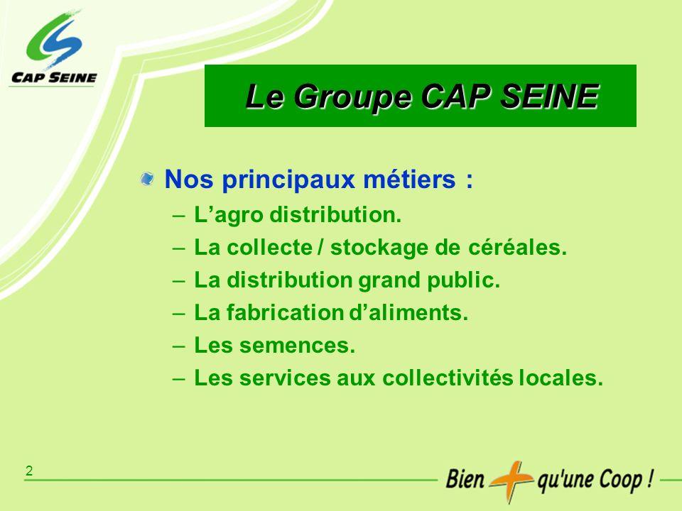 Le Groupe CAP SEINE Nos principaux métiers : L'agro distribution.