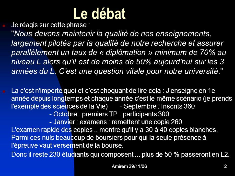 Le débat
