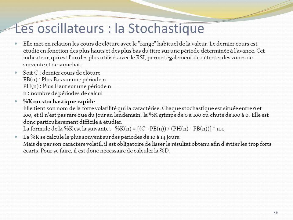 Les oscillateurs : la Stochastique