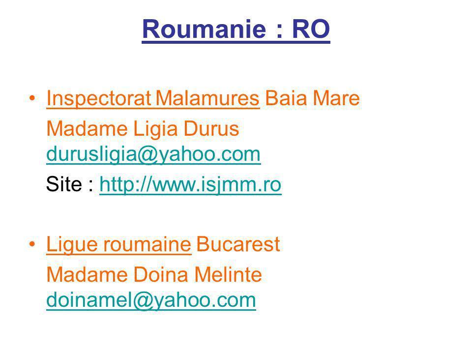 Roumanie : RO Inspectorat Malamures Baia Mare