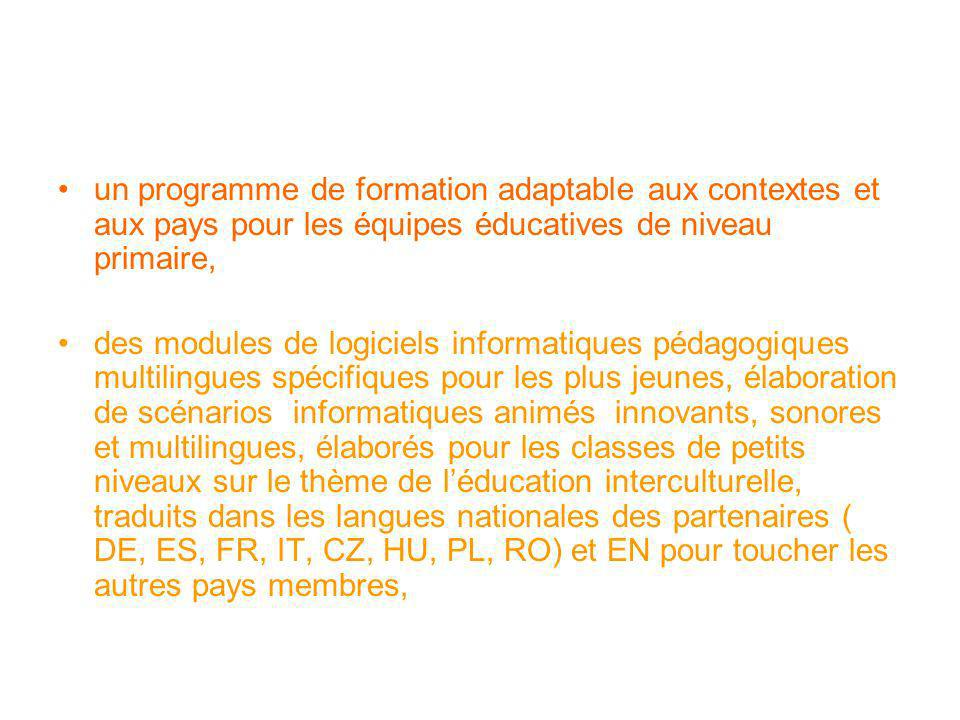 un programme de formation adaptable aux contextes et aux pays pour les équipes éducatives de niveau primaire,