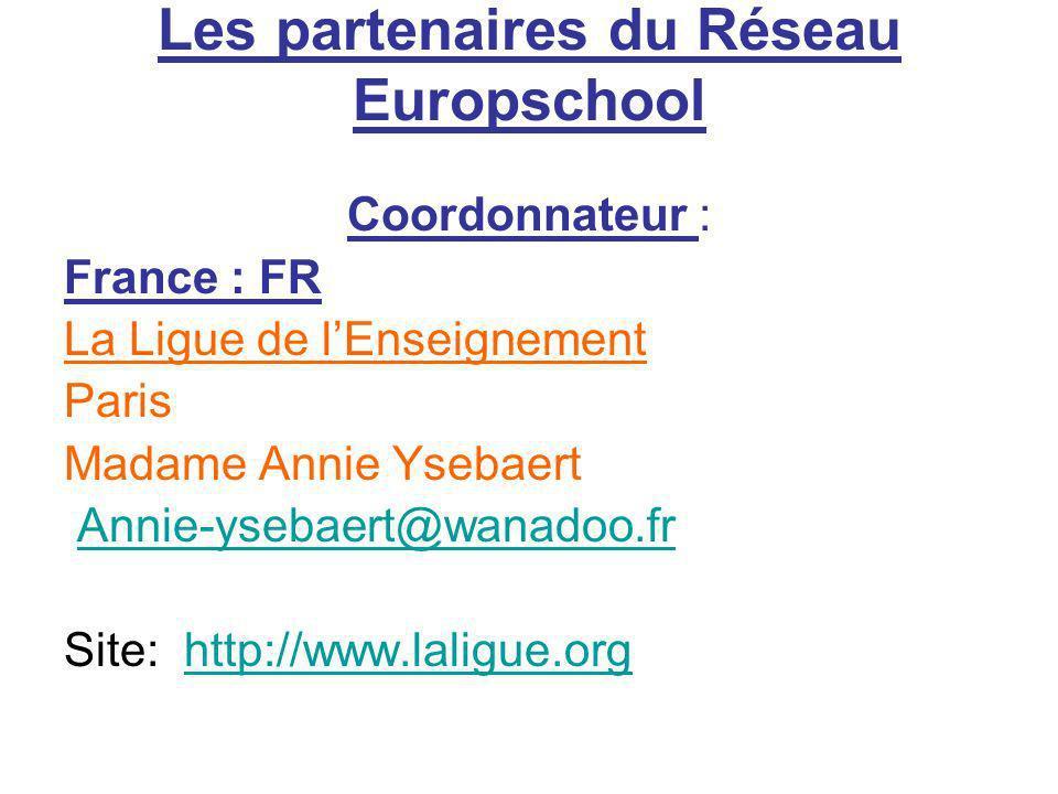 Les partenaires du Réseau Europschool