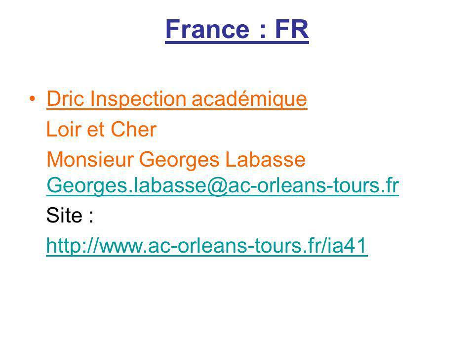 France : FR Dric Inspection académique Loir et Cher