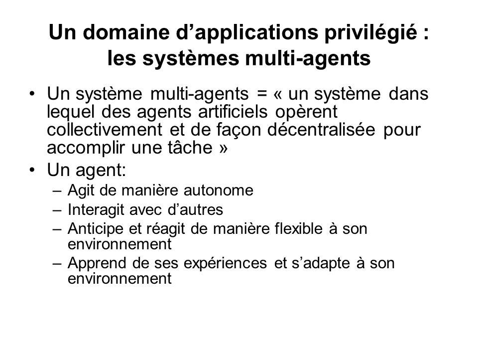 Un domaine d'applications privilégié : les systèmes multi-agents