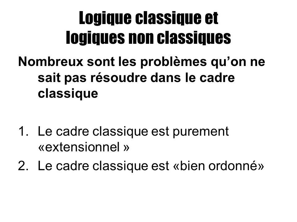 Logique classique et logiques non classiques