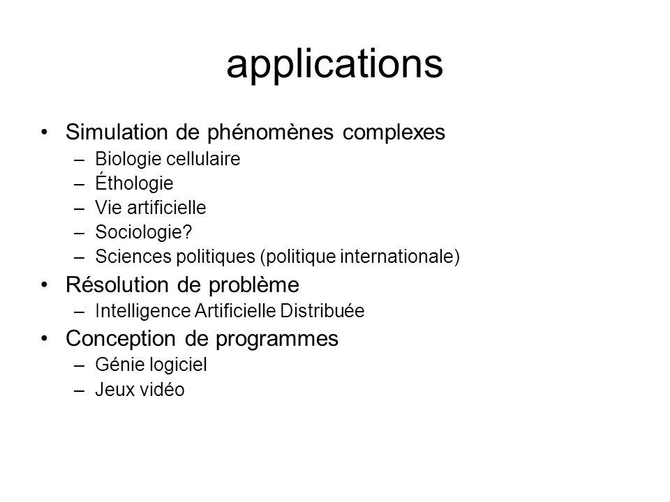 applications Simulation de phénomènes complexes Résolution de problème