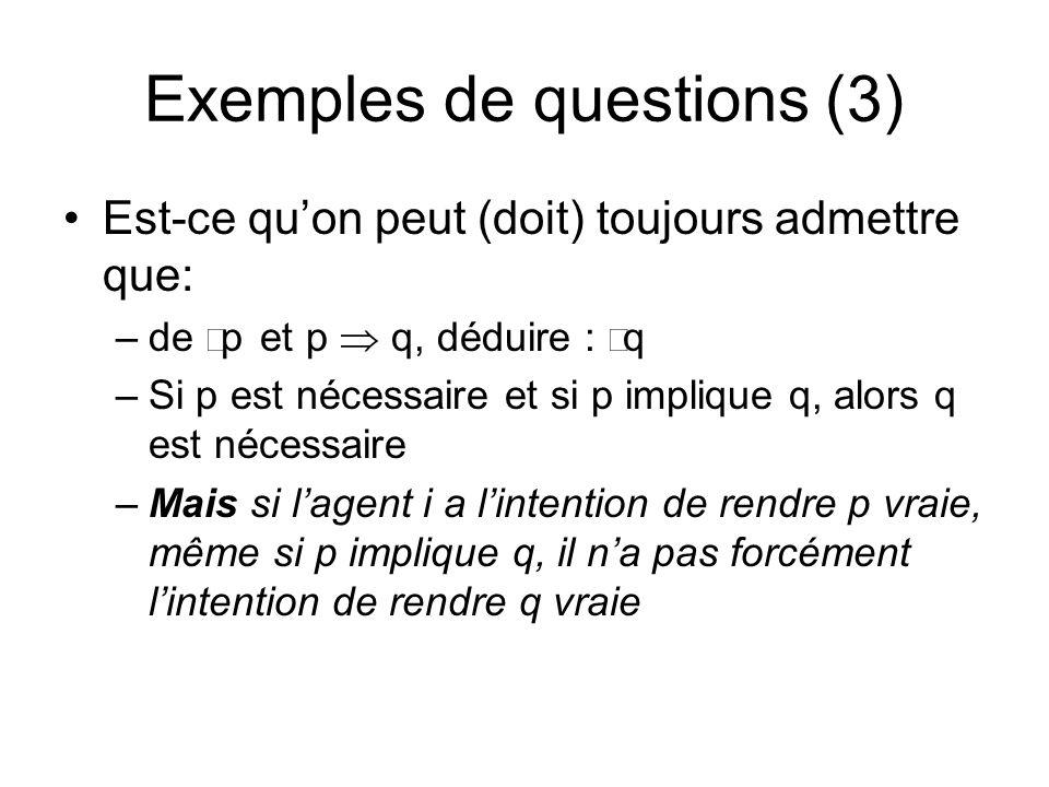 Exemples de questions (3)
