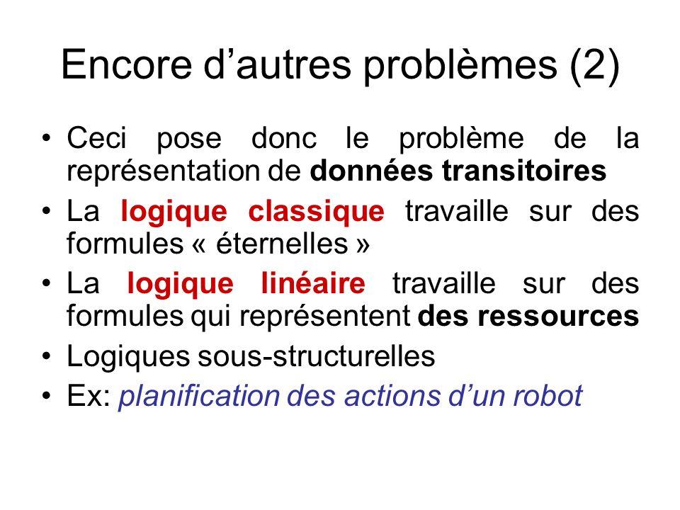 Encore d'autres problèmes (2)