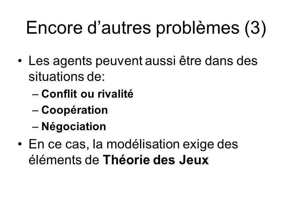 Encore d'autres problèmes (3)