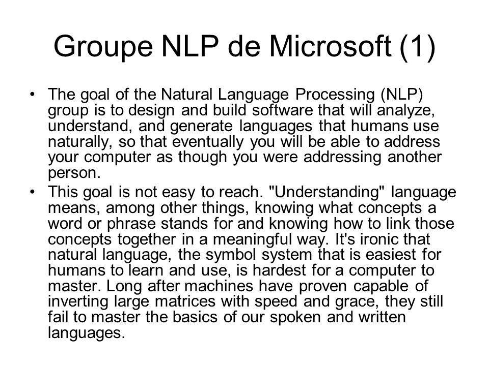 Groupe NLP de Microsoft (1)