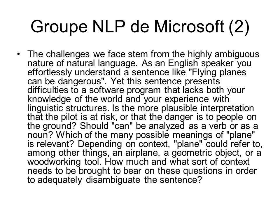 Groupe NLP de Microsoft (2)
