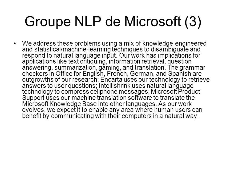 Groupe NLP de Microsoft (3)