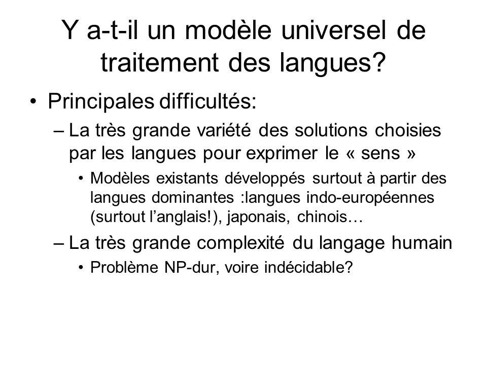 Y a-t-il un modèle universel de traitement des langues
