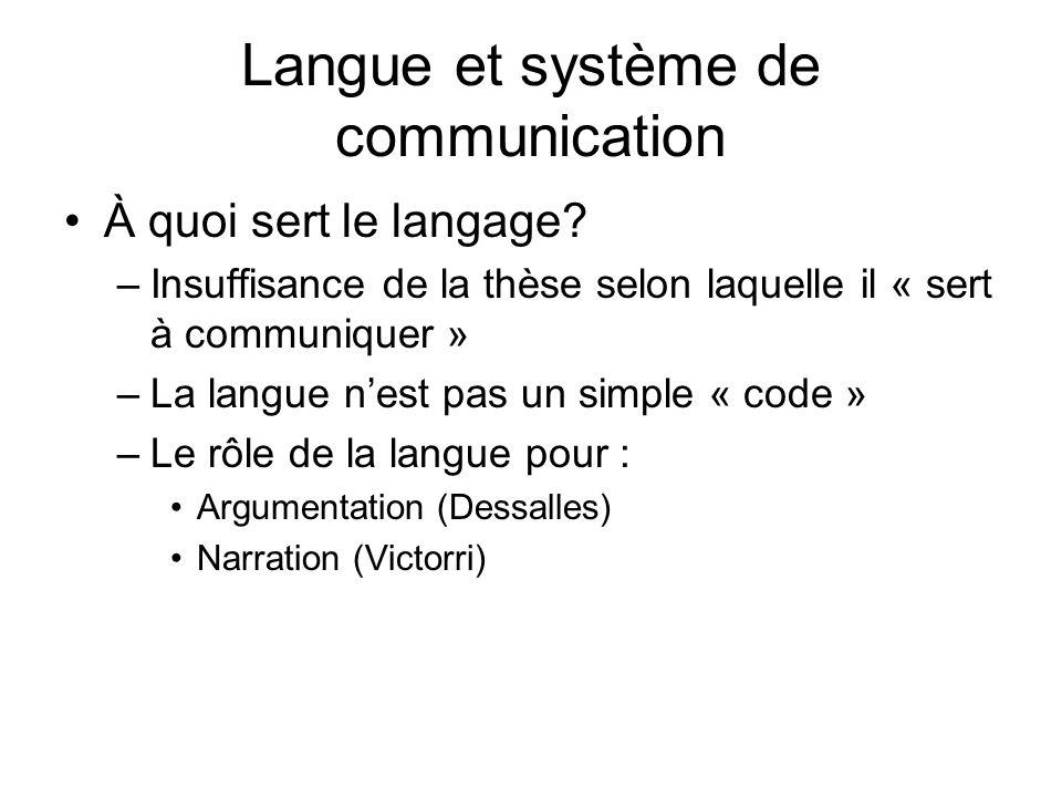 Langue et système de communication