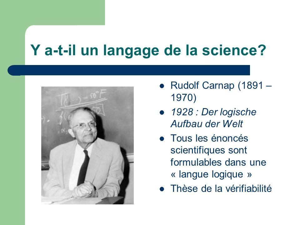 Y a-t-il un langage de la science