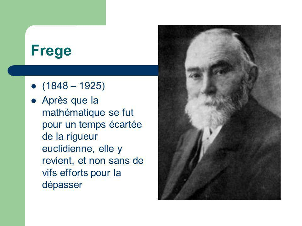 Frege (1848 – 1925)