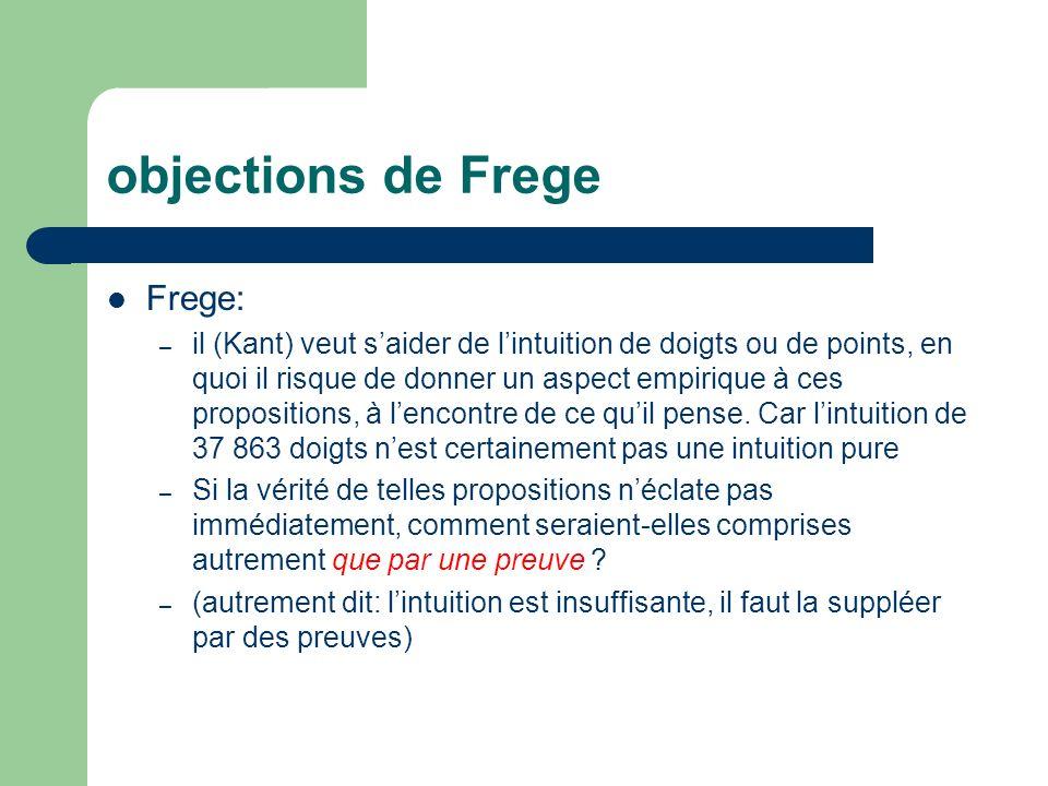 objections de Frege Frege: