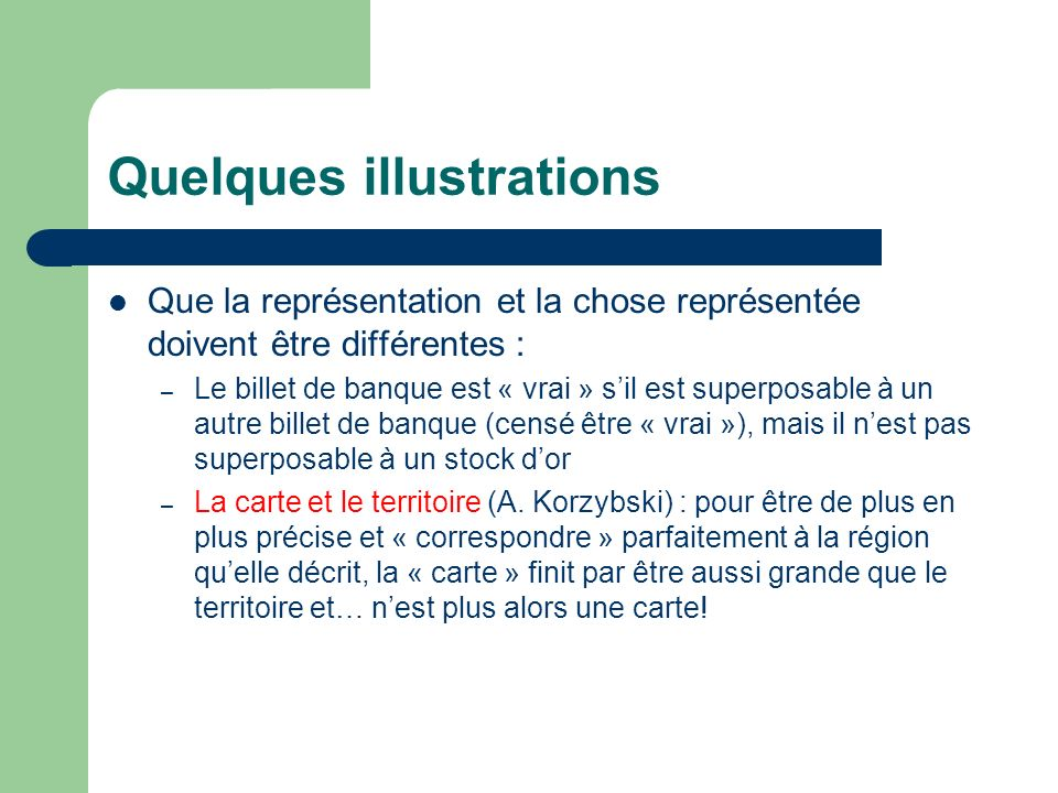 Quelques illustrations