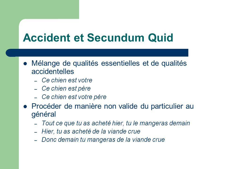 Accident et Secundum Quid