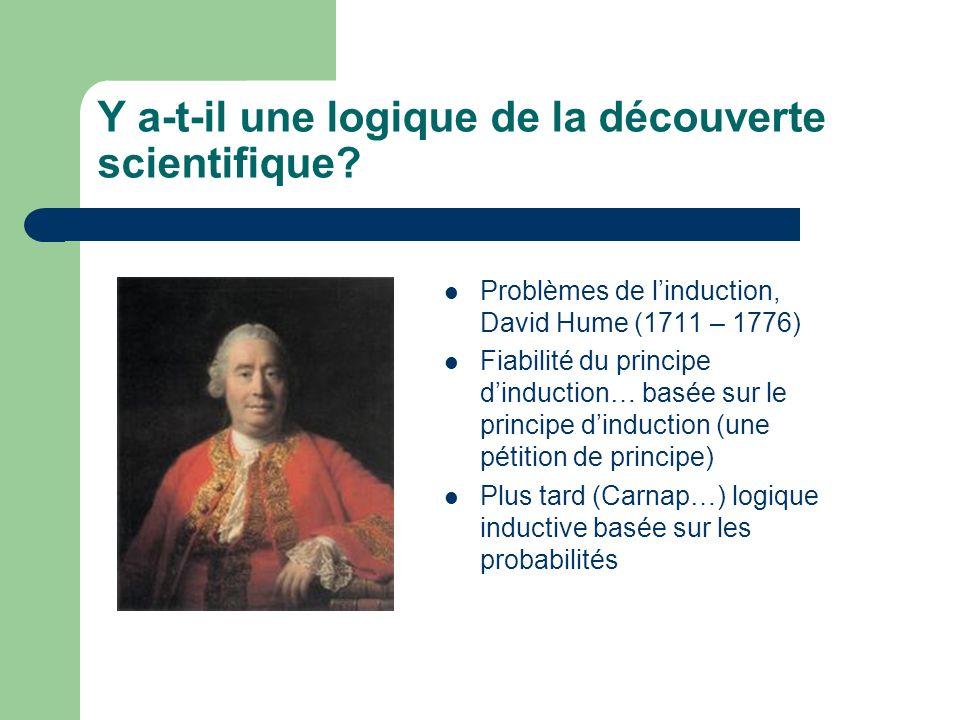 Y a-t-il une logique de la découverte scientifique
