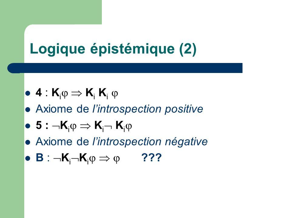 Logique épistémique (2)