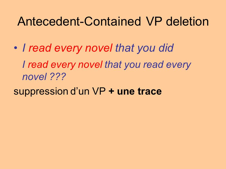 Antecedent-Contained VP deletion