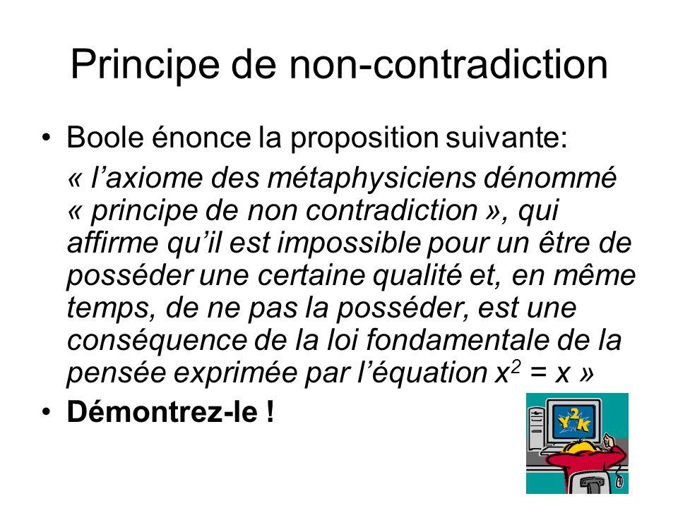Principe de non-contradiction