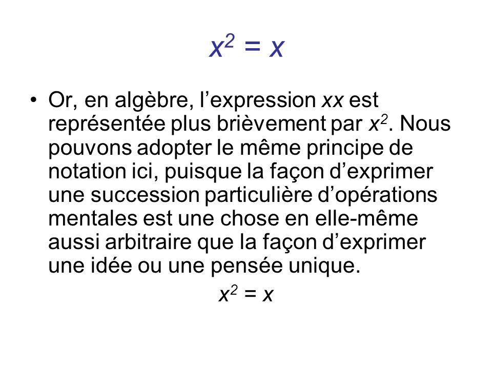 x2 = x
