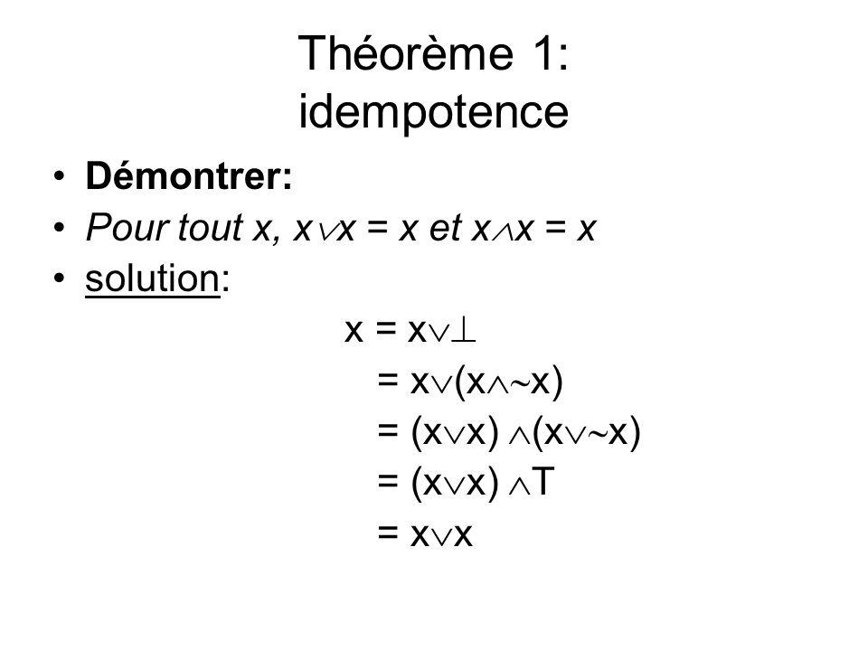 Théorème 1: idempotence